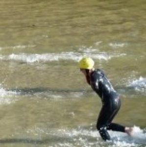 time trial swim start