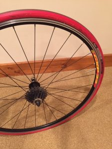 bike trainer wheel setup