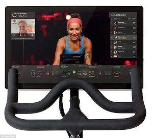 peloton workout screen