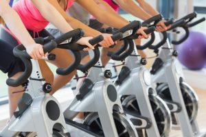 Bike trainer spin class triathlon